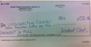 "New York Commercial Debt Collection: Check Marked ""Paid In Full."" Can You Successfully Collect The Balance?"