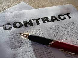 Photo of a contract
