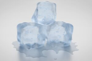 photo of ice cubes to represent how to freeze bank account.