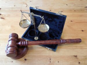 Gavel and scales to represent Judgment on Default