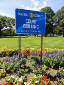 Nassau county court house sign to represent nassau county debt collection
